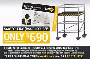 2 Day Basic Scaffold Training: 31st Jan - 1st Feb 2017 Werribee Wyndham Area Preview