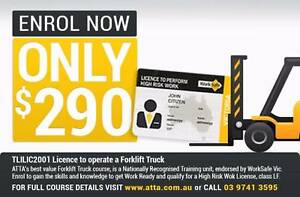 Forklift Truck course 24-25 Jan 2017 $290 – New Year New Skills! Werribee Wyndham Area Preview