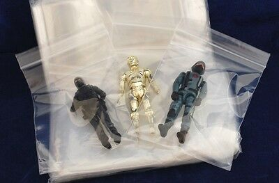 X100 Acid Free Hi Grade Storage Bags for Vintage Star Wars Action Figures