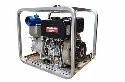 4 Yanmar Heavy Duty Diesel Trash Pump With Electric Start