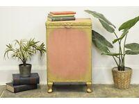 Vintage Lloyd Loom Blanket/ Linen Box