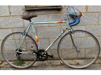 French vintage road bike PEUGEOT frame size 23inch 12 speed, serviced WARRANTY silver FORK ! MAVIC