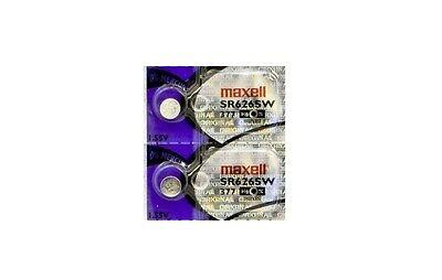 2x Maxell 377 Silver Hologram Sr626sw Oxide X Sr626 Ag4 Lr626 Lr66 Sr66 376