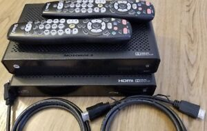 Shaw cable boxes (Motorola + Arris) + 2 HDMI cables + 2 remotes