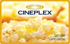 Cineplex gift cards and movie pass