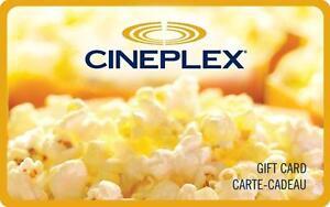 Cineplex 15$ gift card!