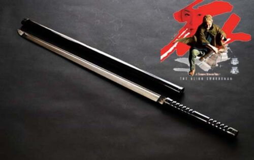 Dark Red Lacquer Japan Edo Zatoichi Katana Sword Forged Carbon Steel