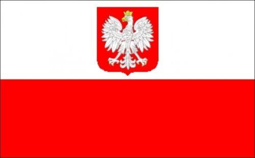 POLAND WITH EAGLE LARGE FLAG 8 X 5 FEET flags POLISH WARSAW