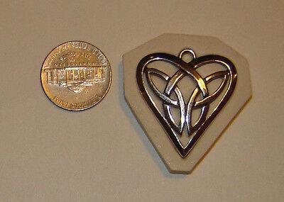 Celtic Knot Heart Hard Polymer Clay Push Mold Size 1-1/4
