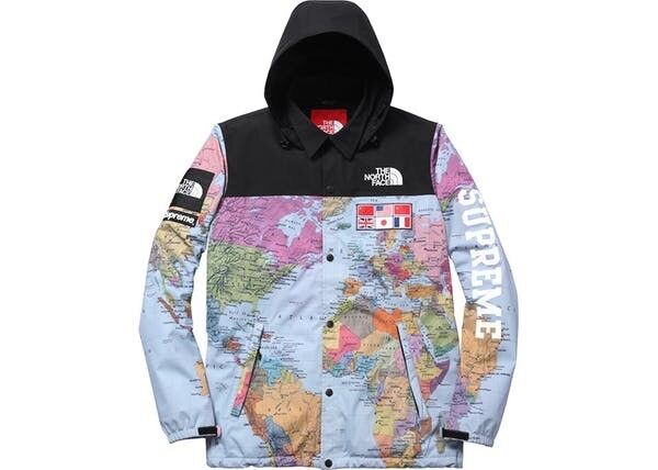 Supreme x north face world map jacket mens city of toronto listing item gumiabroncs Gallery