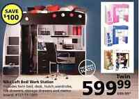 JYSK Nika Loft Bed with desk