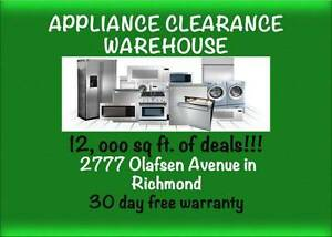 *$100+ Deals*Fridges -Stoves- Washers Dryers.. and Stackers