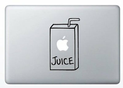 (Apple Juice Box Apple Macbook Laptop Air Pro Decal Sticker Skin Vinyl Mac Humor)