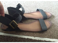 Leather sandals 7, worn for 30 mins