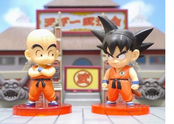 DRAGON BALL 2 Figures set world collectable KURILIN KULILIN + GOKOU j stars mint