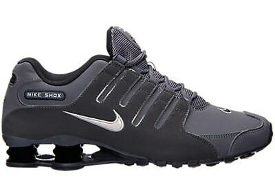 NIB NEW Men's Nike SHOX NZ Running Shoes Sneakers Charcoal Black Gary
