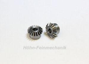 Kegelzahnrad aus Stahl, Modul 0,5, 20/20 Zähne, 1 Paar