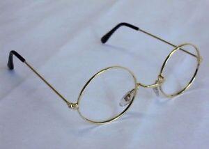 Round Granny Glasses Old Lady Pensioner Santa No Lens Fancy Dress Costume Specs