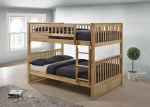 Double / Double Hardwood Bunk Bed - Duncan - by Bunk Beds Canada