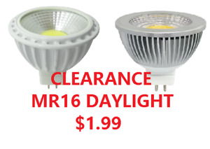 CLEARANCE POT LIGHT BULBS LED MR16 DAYLIGHT