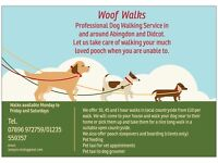 Woof Walks Dog Walking Service for Abingdon and surrounding villages