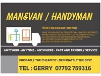 SWANSEA BASED MAN AND VAN SERVICES