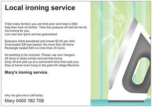 Mary's ironing service. Murarrie Brisbane South East Preview
