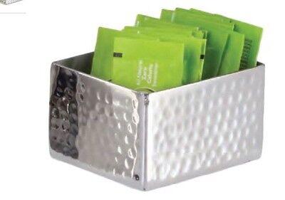 Worldcraft Libby Metal Stainless Steel Restaurant Sugar Packet Holder Caddy (Metal Sugar Packet)