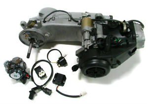 LONG CASE 150CC GY6 SCOOTER ATV GO-KART ENGINE MOTOR 150 CVT AUTO CARB COMPLETE