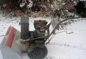 old craftsman snoblower, runs good, has electric start and chain