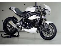 2015 Triumph Speed Triple 1050, White, Excellent, Triumph history, Warranty, MOT