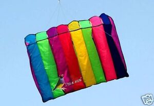 8-HOLE-GALAXY-SINGLE-LINE-PARACHUTE-PARAFOIL-FOIL-KITE-OUTDOOR-BEACH-FUN