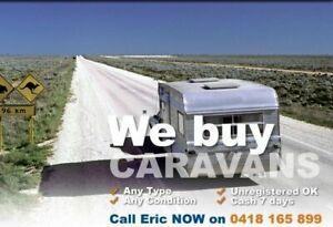 WANTED DEAD OR ALIVE - CARAVANS - CAMPERS - POP TOPS - Cash 7 days - We come to you! - Any Cond. Heathcote Sutherland Area Preview