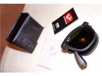 Ray Ban Folding Wayfarer Sunglasses Matte Black 54mm Unisex