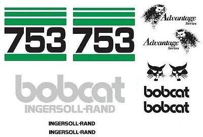 Original Look New Bobcat 753 Full Decal Sticker Set Kit Skid Steer Advant