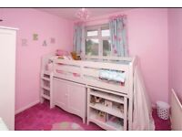 Next Gracie Cabin Bed with Matching Wardrobe cost £1100 New, Excellent Condition, hardly used.