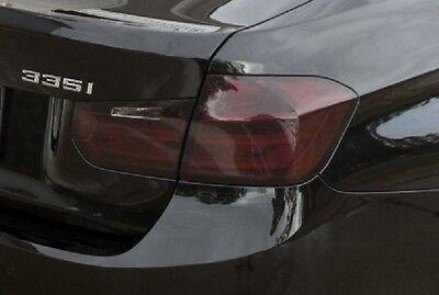 30 Light Tint - 12-16 BMW F30 3 SERIES SEDAN SMOKE TAIL LIGHT PRECUT TINT OVERLAY 328i 335i 340i