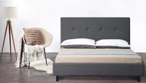 BRAND NEW CRISTO Modern Fabric Bed Frame Grey DOUBLE/QUEEN /KING SIZES Reservoir Darebin Area Preview