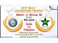 India vs Pakistan ICC Champions Trophy Adult Ticket Eric Hollies Front Row Best View