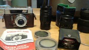 Vintage camera & accessories from estate