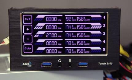 Aerocool Touch 2100 Panel Fan Controller RGB llighting