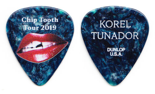 Rob Thomas Korel Tunador Blue Pearl Guitar Pick - 2019 Chip Tooth Tour - MB20