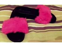 Gorgeous bright pink slippers brand new size 6