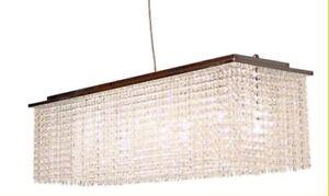 Stunning rectangular hanging crystal chandelier