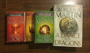 Game of Thrones - 4 books - 3 ppbk, 1 hardcover