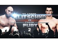 Tyson Fury Vs Wladimir Klitschko Boxing Fight Tickets x 8