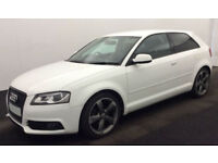 White AUDI A3 SALOON 1.6 1.8 2.0 TDI Diesel BLACK EDITION FROM £45 PER WEEK!