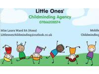 Childminder Agency (Ofsted Registered- BA Hons' Primary Ed)