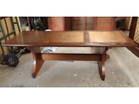 Vintage G-Plan Mid-Century Teak Coffee Table With Three Copper Panels