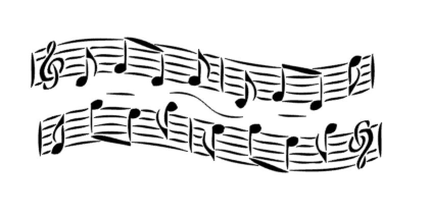 Airbrush Schablone - Stencil 12002 Musik Noten